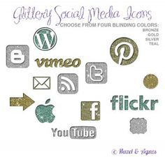 Glitter icons!