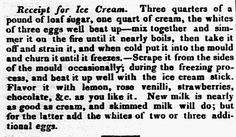 """Ice cream recipe, published in the Eastern Argus newspaper (Portland, Maine), 5 June 1829. Read more on the GenealogyBank blog: """"Celebrating National Ice Cream Day: You Scream for Ice Cream."""" https://blog.genealogybank.com/celebrating-national-ice-cream-day-you-scream-for-ice-cream.html"""