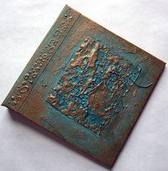 Refillable Journal Handmade Copper Verdigris Texture by ElisCooke