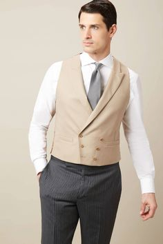 Discover the Wool Double Breasted Morning Waistcoat from Hackett London, and enjoy free delivery and returns on all orders. Men's Waistcoat, Groomsmen, Double Breasted, Your Style, Vest, Man Shop, Shirt Dress, Wool, Jackets