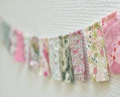 Fabric garland- make some changes to the fabric colors and voila!