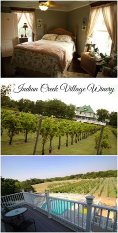 The Indian Creek Village Winery in Ringwood is one of Oklahoma most quaint vineyards. The property has gorgeous rows of growing grapes, an adorable bed and breakfast with a pool and a wide balcony perfect for enjoying a glass of chardonnay.