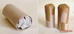 reciclagem com rolo de papel