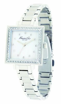 Kenneth Cole New York Women's KC4659 Iconic Quartz Crystal Accented Bracelet Watch Kenneth Cole. Save 15 Off!. $106.25. Features a brushed stainless steel case and bracelet. Quality Japanese-Quartz movement. White dial with swarovski crystal markers at 1-12. Secure fold over clasp. Water-resistant to 99 feet (30 M)