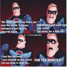 Image result for mr. incredible saving the world
