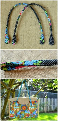 I love this tutorial for how to make your own padded bag straps or handles. I had no idea they were this easy. The rounded ends on these are nicely finished, just perfect for sewing onto your favorite bag. One of teh best bag handles sewing tutorials.