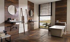 Nibo Stone levert keramisch parket dat nauwelijks van echt hout is te onderscheiden. De keramische tegels zijn praktisch en geschikt voor vochtige ruimtes.