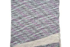 Heather Purple Mint and Black French Terry Knit Fabric 20