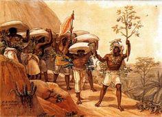 Debret - escravos carregadores de café - Brasil