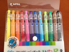 jet pens -eleven frixion pens