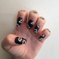 Naruto Nails, Anime Nails, Colorful Nail Designs, Nail Art Designs, Long Red Hair, Dark Hair, Brown Hair, Uñas Color Neon, Chelsea Houska Hair