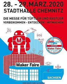 Die Maker Faire Sachsen 2020 steht in den Startlöchern, am 28. und 29.März in der Stadthalle in Chemnitz, und die Wunderwuzzis sind live mit dabei #makerfaire #Wunderwuzzi #Roboter #Chemnitz #Sachsen Maker, Live, Instagram, Robot