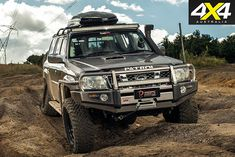 This Nissan Patrol has been equipped with an arsenal of weapons-grade modifications, including a military-spec diesel engine. Toyota Trucks, Lifted Ford Trucks, Jeep Truck, 4x4 Trucks, Diesel Trucks, Nissan 4x4, Nissan Xterra, Best 4x4 Cars, Nissan Patrol Y61