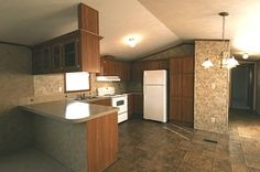 single wide mobile home floor plan 725CT Kitchen