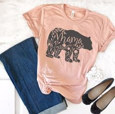 Mothers Day Shirts Discover Mama Bear Shirt Mama Bear TShirt Floral Mama Bear Shirt Pregnancy Reveal Shirts Mom Shirt Mother Tee Baby Shower Gifts for Mom Camisa Boho, Mama Shirts, Girl Shirts, Mama Bear Shirt, Baby Kicking, Mothers Day Shirts, Mom And Dad, Shirt Designs, Graphic Sweatshirt