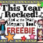 This year rocked!!! Let's create a memory book to remember all of the good times!  This memory book features a rock star theme