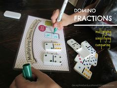 Relentlessly Fun, Deceptively Educational: Multiplying Domino Fractions