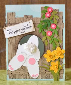 Hello everybody and welcome back to my blog. I was looking for an Easter themed card and got inspired by so many card designs where the bunn...