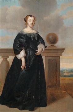 Bildnis einer Dame in schwarzem Kleid par Isaac Luttichuys