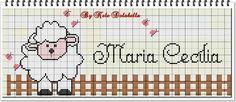 Plastic Canvas Stitches, Sheep, Cross Stitch, Diagram, Embroidery, Words, Cross Stitch Font, Cross Stitch Baby, Cross Stitch Borders