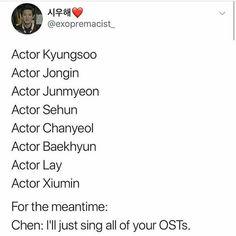 Oh Chennie! Whilst they try to earn trophies through dramas and such, go collect trophies for OST's, baby..