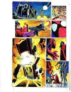 Marvel Comics Spider-man color guide art page 29:Amazing/100's MORE IN OUR STORE
