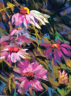 Floral pastel art
