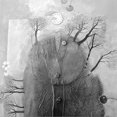 elf2mani: une touche de rouge.. Mix Media, Mixed Media Art, Collages, Grey Quilt, Winter's Tale, Sacred Art, Textile Artists, Art Google, Oeuvre D'art