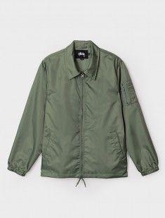Flight Satin Coaches Jacket Olive