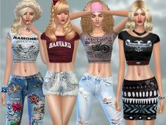 The Sims Resource: Summer Dreamer Set by Pinkzombiecupcake • Sims 4 Downloads
