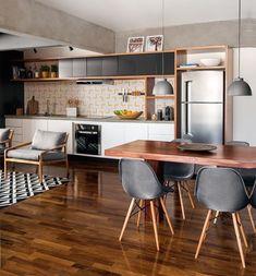"""141 """"Μου αρέσει!"""", 3 σχόλια - Casa Sem Paredes (@casasemparedes) στο Instagram: """"// tchau tchau parede ✌️ cozinha integrada com a sala é muito ❤// #casasemparedes #interiordesign…"""""""