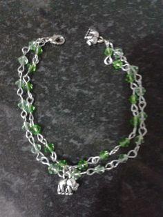 Pulseira cristais verdes