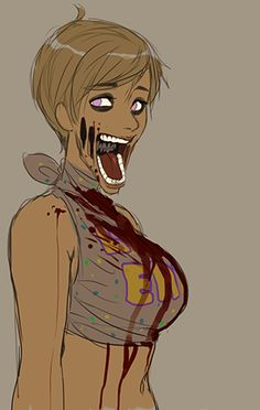 Five Nights at Freddy's humanized chica. <- CREEPIER THAN ACTUAL CHICA<-Psh! I didn't need sleep!