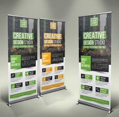 Creative Roll-Up Banner by GeniusPoint | GraphicRiver Creative Design, Web Design, Logo Design, Design Ideas, Roll Up Design, Rollup Banner, Modern Graphic Design, Business Website, Banner Design