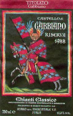 Castello di Cabbiano Riserva Chianti Classico, 1988 Chianti Classico, Italian Wine, Wine Labels, Wine Tasting, Italy, Wine Tags, Italia