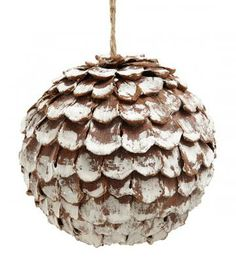 Snowy Pinecone Ornaments - Set of 2