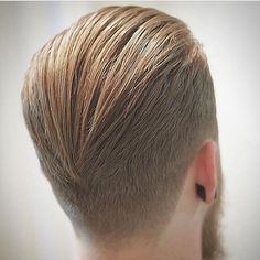 A medium-length hairstyle combed on the back can be very good for work.