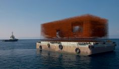 Brod/ the Ship/ La nave: A Floating Pavilion for Croatia at the Venice Biennale Floating Architecture, Water Architecture, Pavilion Architecture, Contemporary Architecture, Architecture Design, Pavilion Design, Pavillion, Temporary Structures, Floating House