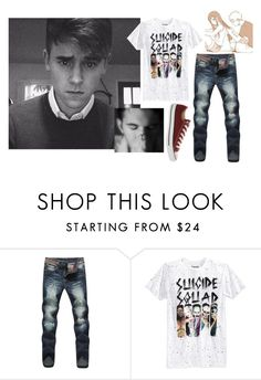 """""""*crying* -Ashton"""" by whittster34 ❤ liked on Polyvore featuring Bioworld, Converse, men's fashion and menswear"""