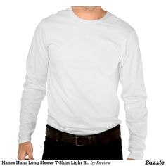 Hanes Nano Long Sleeve T-Shirt Light Blue  Blank