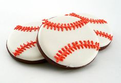 Decorated Cookies Baseballs by katieduran on Etsy, $26.00