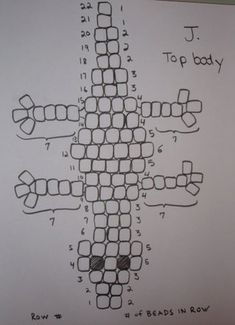 Picture of What the Completed Top Body Should Look Like Pony Bead Projects, Pony Bead Crafts, Art Projects, Beaded Ornament Covers, Beaded Ornaments, O Beads, Beads And Wire, Pony Bead Patterns, Beading Patterns