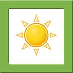 Weerkaartjes Pompom, zon