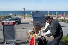 Freies Malen während des Plein Air Festival | Plein Air Maler an der KunsthalleKühlungsborn (c) FRank Koebsch (2)