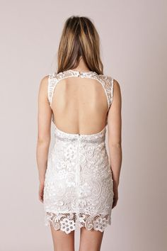 This dress just got even better! Love the back!