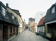 Project name: Townhouse   Architect: Elding Oscarson  Location: Landskrona, Sweden  Structural Engineer: Konkret   Builder: Skånebygg  Gross Floor Area: 125 square meters  Construction Cost: 280,000 Euro  Project Year: 2009  Photographs: Åke E:son Lindman