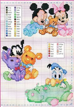 Disney babies in ccs....MANY other cross-stitch charts on this site