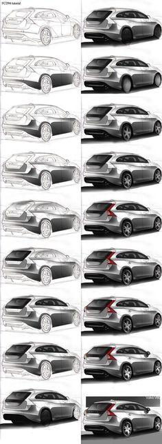 FCD tutorial paint car by - Design's - Autos Car Design Sketch, Car Sketch, Tutorial Paint, Carros Bmw, Photoshop Rendering, Industrial Design Sketch, Sketches Tutorial, Affinity Designer, Car Illustration