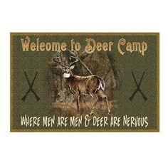American Sportsman Welcome To Deer Camp Mat