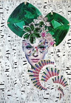 Emilia Elfe (handmade collage) #emiliaelfe #handmadecollage #collage #collageart #design #fashioncollage #fashion #fineart #fashionillustration #portrait #art #mixedmedia #contemporaryart #headdress #hairstyle #jewellery #diamonds #beauty #fairytale #makeap #papercollage #jewerlydesign #fashion #style #jewelry #retro #fashionart #collageartist #mixedmedia #fashiondesign